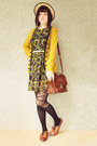 Gold-sunflower-modcloth-dress-black-ballerina-style-romwe-tights