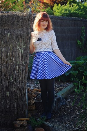 sky blue DIY skirt - black I Love Crafty necklace