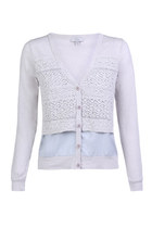 Lace Panelled Cardigan