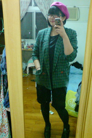 shoes - H&M hat - blazer - Uniqlo shirt - H&M pants
