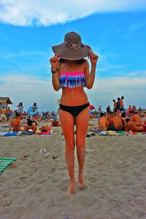 hot pink Bershka swimwear