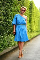 blue united colors of benetton dress