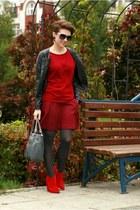 red Zara shoes - brick red Gap sweater - brick red Gap skirt