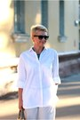 White-zara-shirt-heather-gray-prada-bag-silver-zara-pants