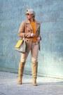 Camel-zara-boots-mustard-cos-sweater-gold-maxmara-bag