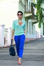 Aquamarine-h-m-top-blue-promod-pants-carrot-orange-zara-pumps