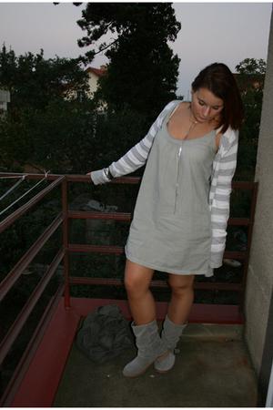 Zara dress - Zara sweater - Promod shoes