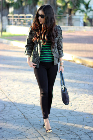 black Sisley bag - army green Charlotte Russe jacket