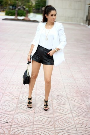 white Forever21 blazer - ivory Zara top