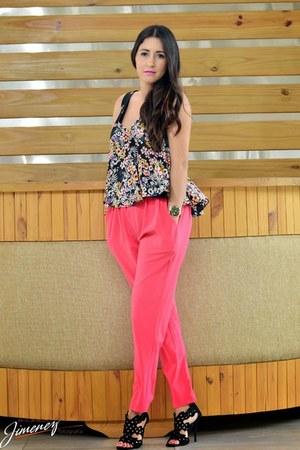 Zara top - top - bubble gum Local store pants