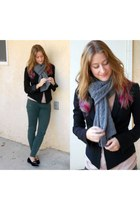 green Topshop pants - black Elizabeth and James blazer