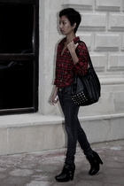 red Ralph Lauren - black Mango - black zoe boots sam edelman