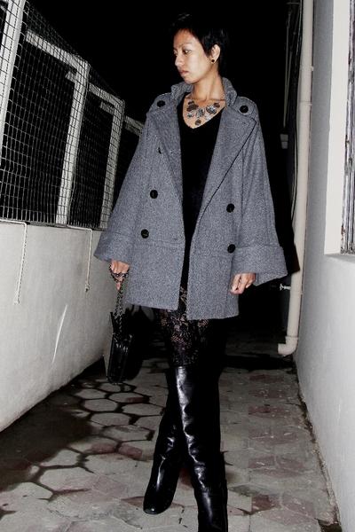 black lace Kova & T leggings - black Marc Jacobs boots