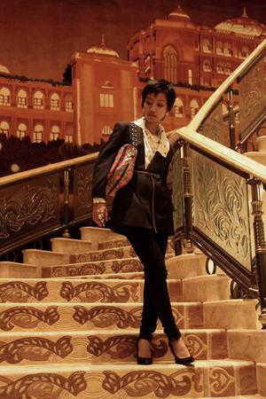 black Stella McCartney jacket - white Matthew Williamson blouse - black Mango je