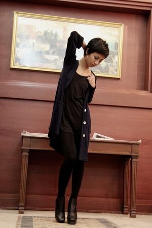 black Mango shirt - black Accessorize leggings - black sam edelman boots