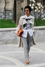 Beige-trench-mango-coat-white-topshop-shirt-black-lennon-gifted-sunglasses-