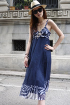navy romwe dress