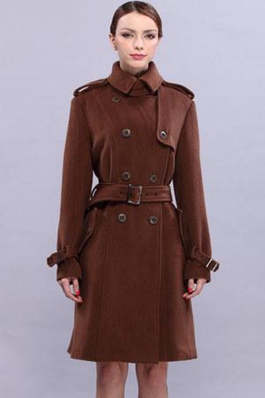 brown romwe coat