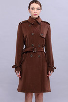 brown romwe coat