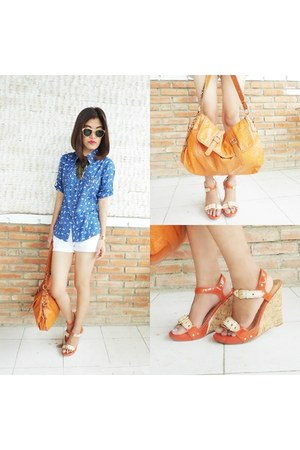 orange michael antonio wedges - carrot orange Aldo bag