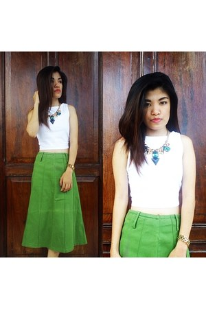 Bazaar necklace - Guess watch - Mango skirt - Local store top