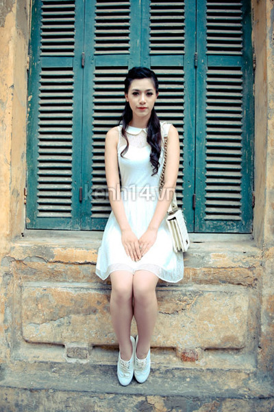 white dress - ivory classic bag - white loafers