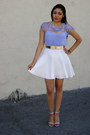 Caged-top-hot-miami-styles-blouse-skater-skirt-hot-miami-styles-skirt