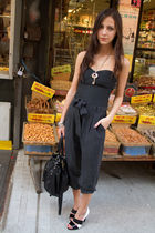 Urban Outfitters top - gray Forever 21 pants - black Forever 21 accessories - Gi