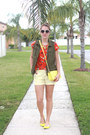 Yellow-old-navy-shoes-light-yellow-target-purse-yellow-gap-shorts