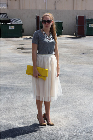 Yapa skirt - Aldo shoes - Old Navy shirt - DIY bag