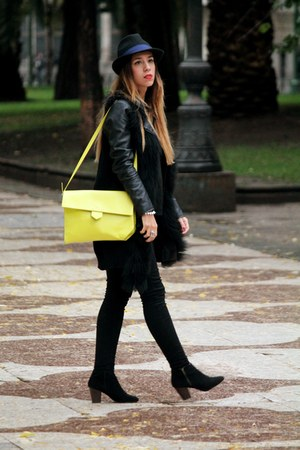 black Primark boots - lime green Zara bag