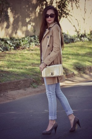 Forever New coat - identity jeans - Forever New purse - Michael Kors watch