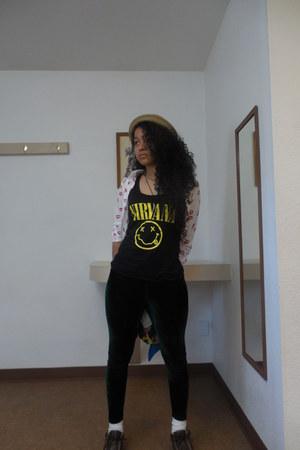 nirvana thrifted shirt