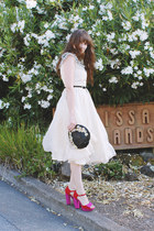 vintage dress - vintage hat - asos heels