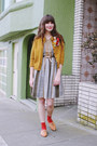 Vintage-dress-h-m-socks-vintage-cardigan-vintage-flats