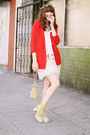 Vintage-dress-vintage-bag-thrifted-cardigan-chelsea-crew-heels