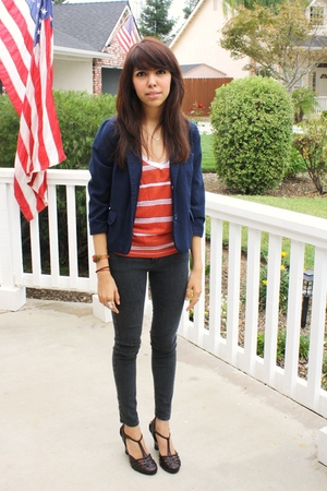 Forever 21 blazer - Urban Outfitters shirt - BDG jeans - shoes