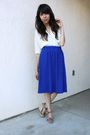 White-silence-noise-blouse-blue-thrifted-skirt-cynthia-vincent-for-target-s