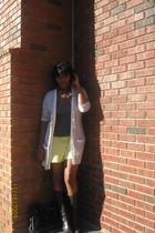 Gap jacket - Old Navy top - anne taylor loft shorts - Vaneli boots