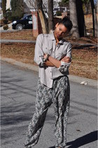 H&M pants - beige Forever 21 shirt - Lynns inc accessories - beige