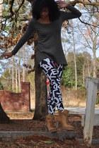 H&M shirt - H&M leggings - Charlotte Russe boots
