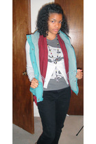 Forever 21or cardigan - Old Navy vest - H&M sweater - delias shirt - handmade ne