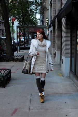 Blanc Noir coat - Dsquared2 boots