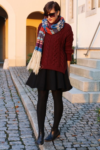 Zara sweater - asos boots - yest skirt