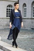 Love dress - H&M blazer - vintage bag - sugarlove pumps - Primark belt