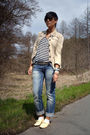 Blue-cipo-baxx-pants-h-m-shirt-gold-primark-shoes-beige-vero-moda-jacket