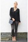 Black-georgia-rose-bag-black-primark-blouse-brown-yest-pants