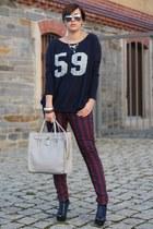 Primark bag - romwe shirt - Primark pants - Primark heels