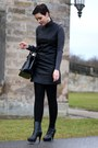 Black-deichmann-boots-black-leather-primark-dress