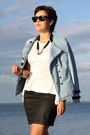 Peplum-romwe-shirt-military-noname-jacket-wayfarer-ray-ban-sunglasses